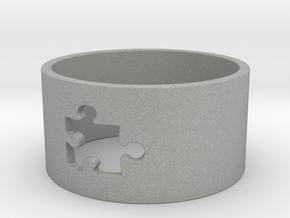 Puzzle Piece Ring Size 8 in Aluminum