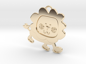 Lion Pendant in 14K Yellow Gold