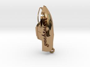 Yacht keychain in Polished Brass