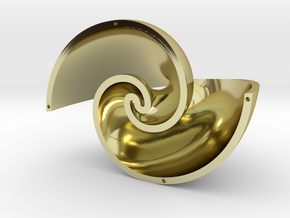 Golden Vortex Shell CCW in 18k Gold Plated