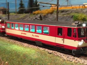 YSC BDt 54 (H0m, 1:87) in Smooth Fine Detail Plastic