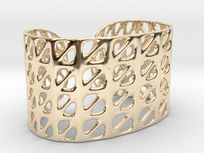 Bracelet, Generative Pattern, size M in 14k Gold Plated Brass