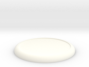 Mini Base Round Lip D75 (full) in White Strong & Flexible Polished