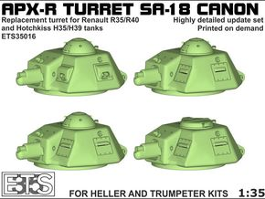 ETS35016 - APX-R turret with SA18 gun [1:35] in Smooth Fine Detail Plastic
