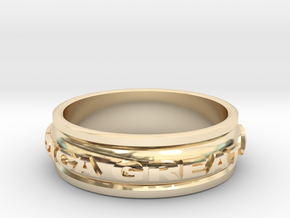 Make America Great Again Ring in 14K Yellow Gold