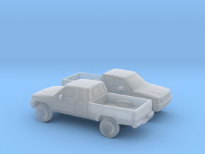 1/160 2X 1988-97 Toyota Hilux in Smooth Fine Detail Plastic