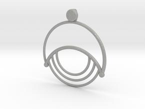 Modern Moon Pendant in Aluminum