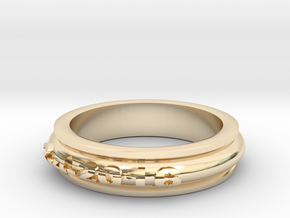 birthdate baby ring in 14k Gold Plated Brass