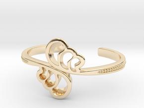 Wave Cuff Bracelet in 14k Gold Plated Brass