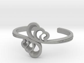 Wave Cuff Bracelet in Aluminum