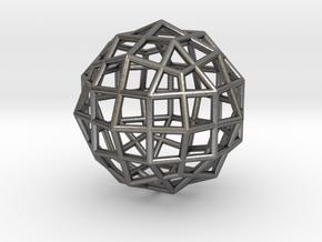 0494 Rhombicuboctahedron + Dual in Polished Nickel Steel