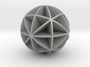DRAW geo - sphere 48 cut outs in Aluminum