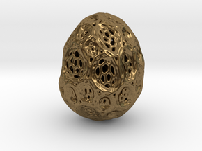DRAW geo - alien egg 2 in Natural Bronze: Small