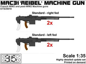 ETS35010 Reibel Machine Gun - 4x - 1:35 scale in Smoothest Fine Detail Plastic