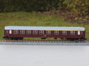 DSB class AB coach N scale in Frosted Ultra Detail