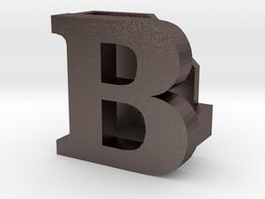 BandBit B1 for Fitbit Flex in Polished Bronzed Silver Steel