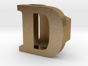 BandBit D1 for Fitbit Flex in Polished Gold Steel
