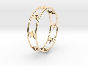 Ring Of Starline 14.1 mm Size 3 in 14k Gold Plated Brass