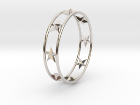 Ring Of Starline 14.1 mm Size 3 in Rhodium Plated Brass