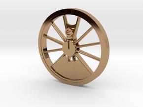 Reno, Inyo, Genoa Driver Wheel in Polished Brass