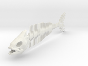 "FISH SKELETON 12"" in White Natural Versatile Plastic"