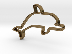 Dolphin V1 Pendant in Polished Bronze