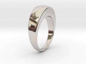 Ø16.51 Egg Ring/Ø0.650 inch in Rhodium Plated Brass