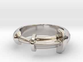 Syringe Ring in Rhodium Plated Brass