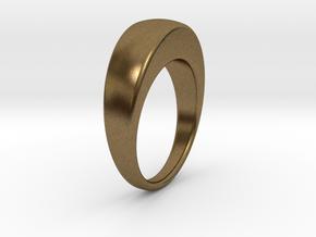 Ø19.51 Egg Ring/Ø0.768 inch in Natural Bronze