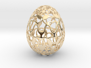 Screen - Decorative Egg - 2.3 inch in 14K Yellow Gold