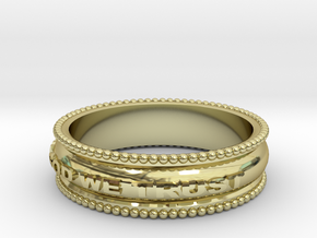 In God We Trust Band size 11 in 18k Gold Plated