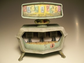 Pack-a-Punch - Nazi Zombies Miniature Perk Machine in Full Color Sandstone