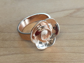 BlakOpal Rose Ring Size 8.5 in 14k Rose Gold Plated Brass