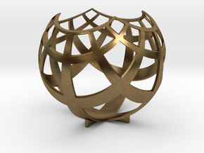 Grid (stereographic projection) in Raw Bronze