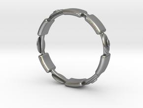 Ø17.35 Fractal Ring/Ø0.683 inch in Natural Silver