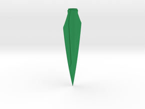 "ARROW - Zwickey Eskimo (1/4"" Tapered Hole) in Green Processed Versatile Plastic"