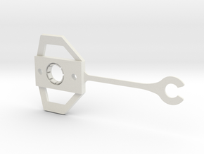 Lotus Elan M100 butterfly clip (for door glass) in White Natural Versatile Plastic