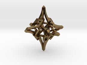 'Radial' D10 balanced gaming die in Polished Bronze