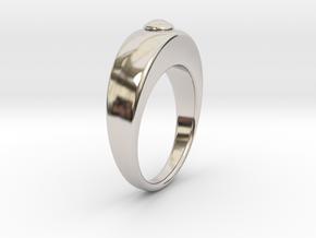 Ø16.51 Egg Ring/Ø0.650 inch Model B in Rhodium Plated Brass