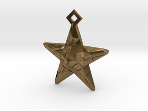 Stylised Sea Star Pendant in Natural Bronze