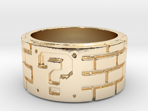 Mario Ring Size 7 in 14k Gold Plated Brass