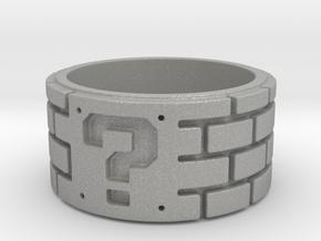 Mario Ring Size 7 in Aluminum