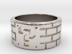 Mario Ring Size 8 in Platinum: 5 / 49