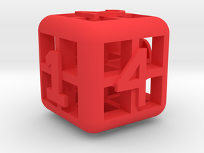 The Big Weird Dice in Red Strong & Flexible Polished