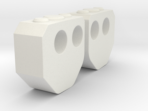 Krono's Elbow Joints in White Natural Versatile Plastic