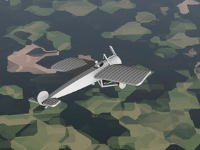 Fokker E.II in White Strong & Flexible: 1:144