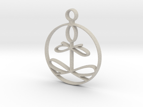 Yoga Glee Pendant in Natural Sandstone