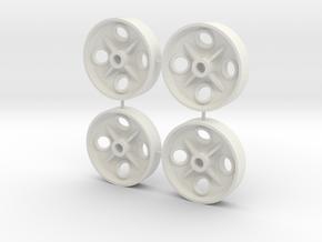 1:13,3, FB Radscheiben 350mm in White Strong & Flexible