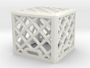 1:25 Scale Milk Crate (single) in White Natural Versatile Plastic