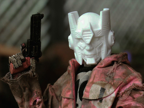 """Kup"" custom 1:6th scale head in White Natural Versatile Plastic"